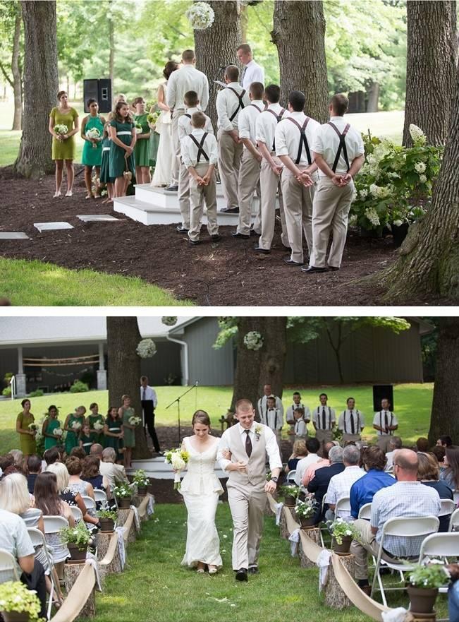 Green DIY Outdoor Virginia Wedding {Gayle Driver Photography} 14