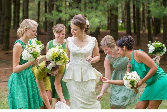 Green DIY Outdoor Virginia Wedding {Gayle Driver Photography} 5