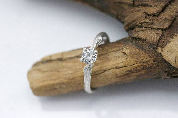 11 - White Sapphire twig engagement ring $700 eftratdeutsch