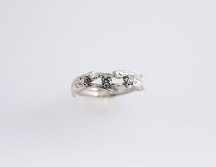 6 - $315 Simply Elegance Eco Engagement Ring - in Recycled Silver - Fernando Jewelry