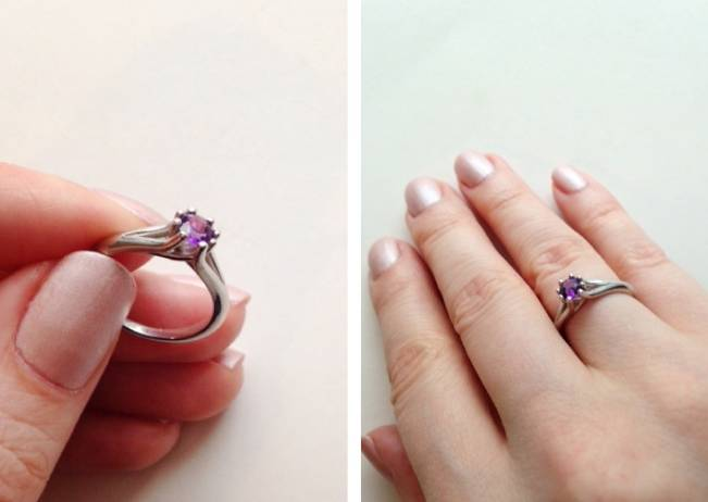 Anjolee amethyst 8 prong ring
