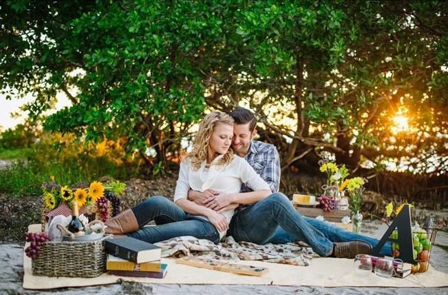 Boho Picnic Engagement Shoot {Ashlee Hamon Photography, Inc.} 10