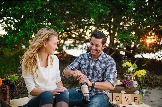 Boho Picnic Engagement Shoot {Ashlee Hamon Photography, Inc.} 12