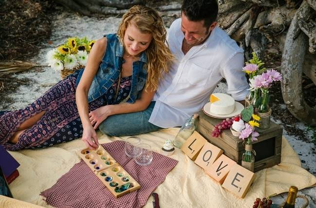 Boho Picnic Engagement Shoot {Ashlee Hamon Photography, Inc.} 6