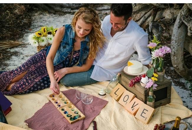 Boho Picnic Engagement Shoot {Ashlee Hamon Photography, Inc.} 6
