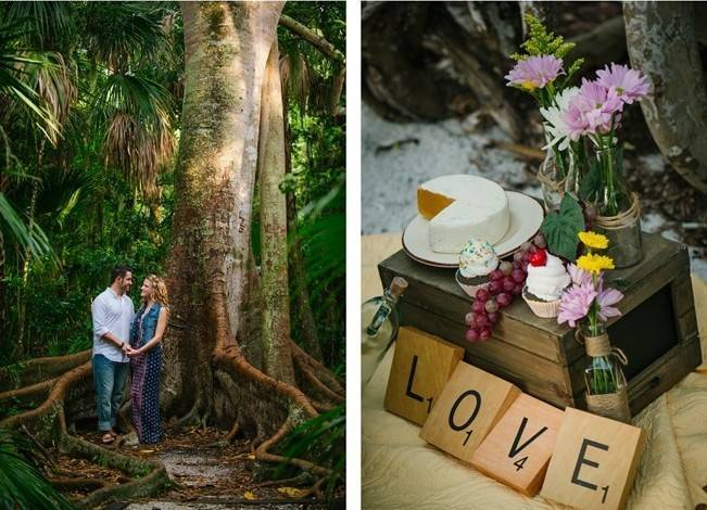 Boho Picnic Engagement Shoot {Ashlee Hamon Photography, Inc.} 7