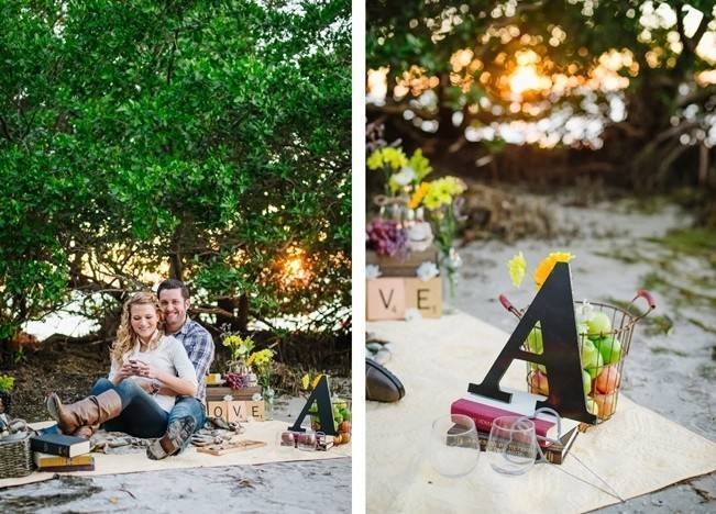 Boho Picnic Engagement Shoot {Ashlee Hamon Photography, Inc.} 9