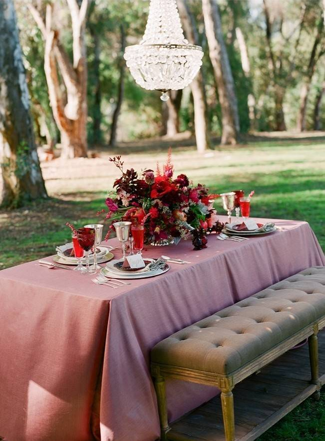 Elegant Red Alfresco Wedding Inspiration {Carmen Santorelli Photograhy} 13