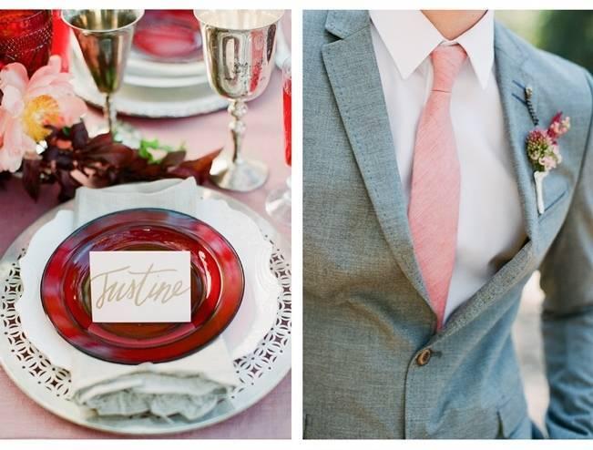 Elegant Red Alfresco Wedding Inspiration {Carmen Santorelli Photograhy} 2