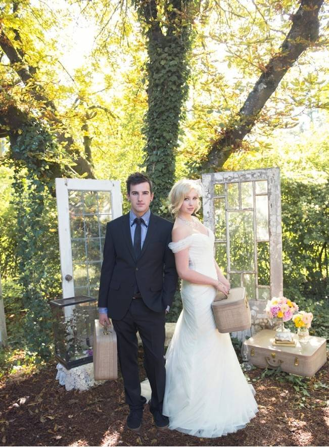 Pink + Yellow Whimsical Country Garden Styled Shoot {L'Estelle Photography} 14