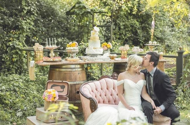 Pink + Yellow Whimsical Country Garden Styled Shoot {L'Estelle Photography} 15