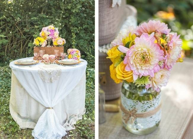 Pink + Yellow Whimsical Country Garden Styled Shoot {L'Estelle Photography} 5