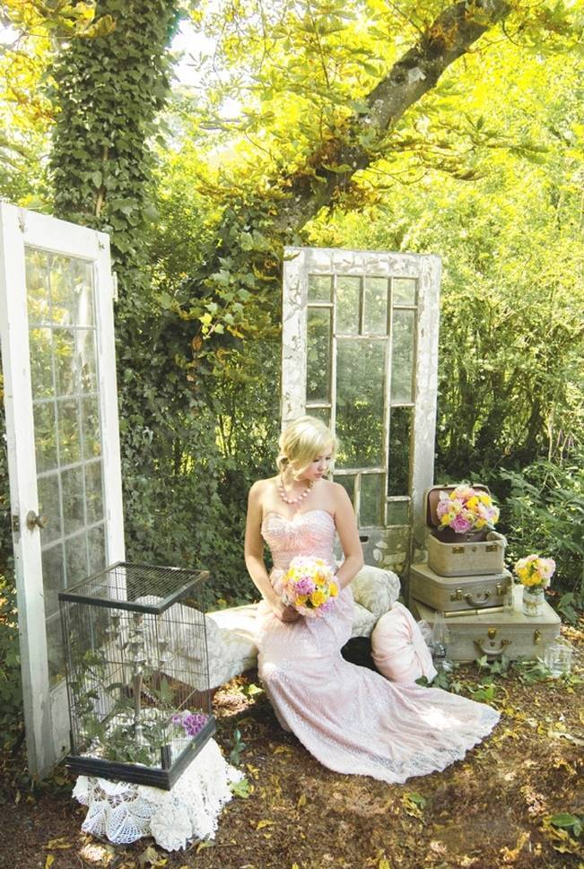 Pink + Yellow Whimsical Country Garden Styled Shoot {L'Estelle Photography} 6