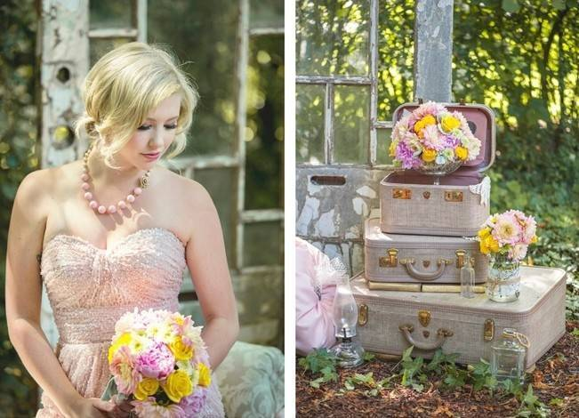 Pink + Yellow Whimsical Country Garden Styled Shoot {L'Estelle Photography} 7