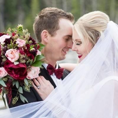 Rustic Merlot and Blush Rocky Mountain Wedding Inspiration