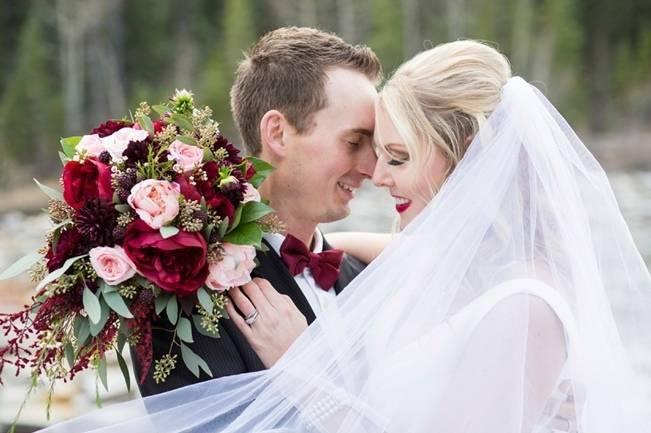 Rustic Merlot and Blush Rocky Mountain Wedding Inspiration 1