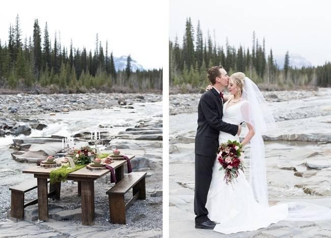 Rustic Merlot and Blush Rocky Mountain Wedding Inspiration 11