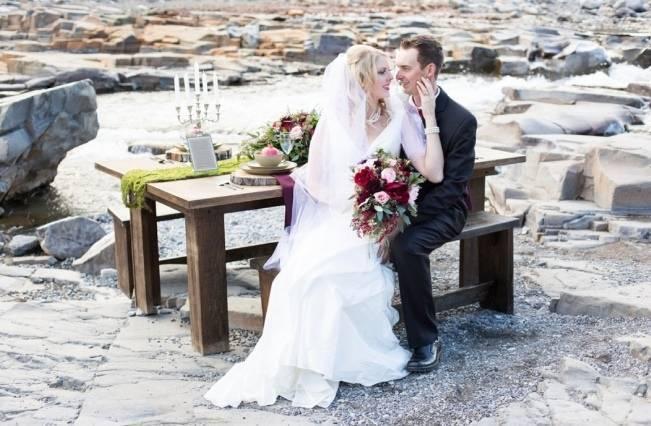 Rustic Merlot and Blush Rocky Mountain Wedding Inspiration 14