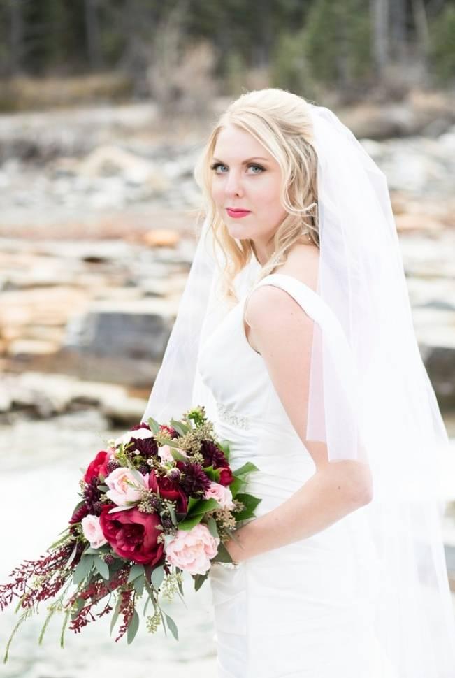 Rustic Merlot and Blush Rocky Mountain Wedding Inspiration 16