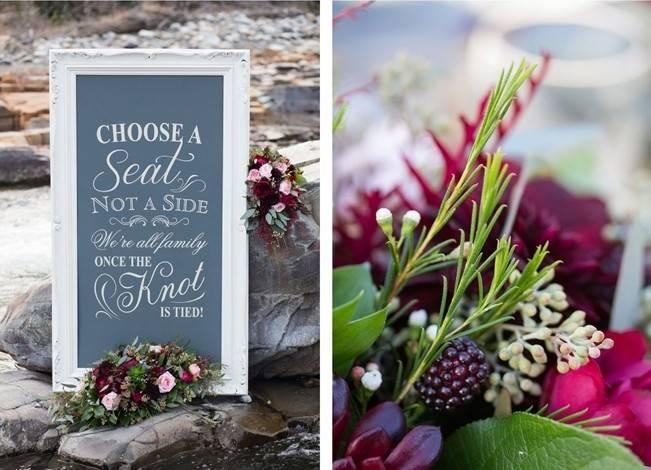 Rustic Merlot and Blush Rocky Mountain Wedding Inspiration 2