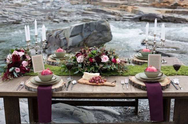 Rustic Merlot and Blush Rocky Mountain Wedding Inspiration 3