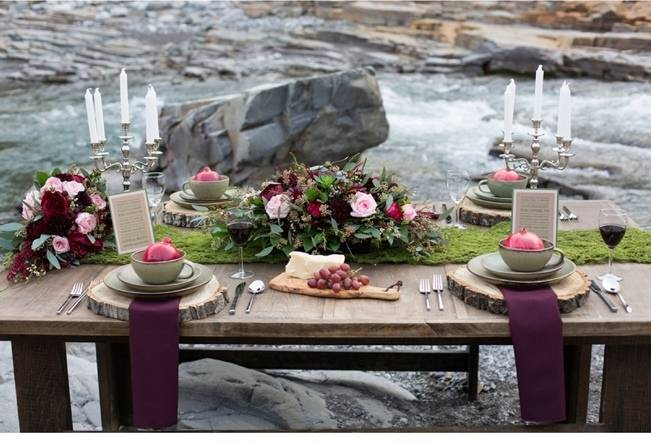 Rustic Merlot and Blush Rocky Mountain Wedding Inspiration 3