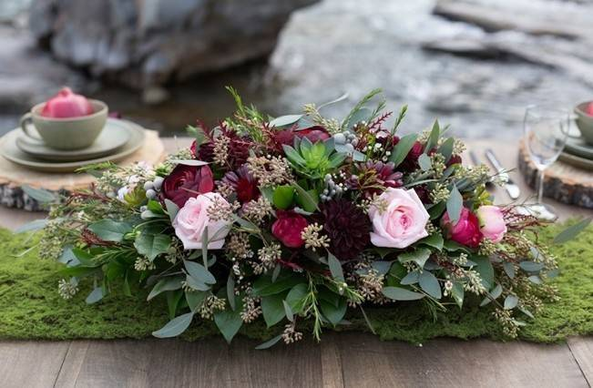 Rustic Merlot and Blush Rocky Mountain Wedding Inspiration 5