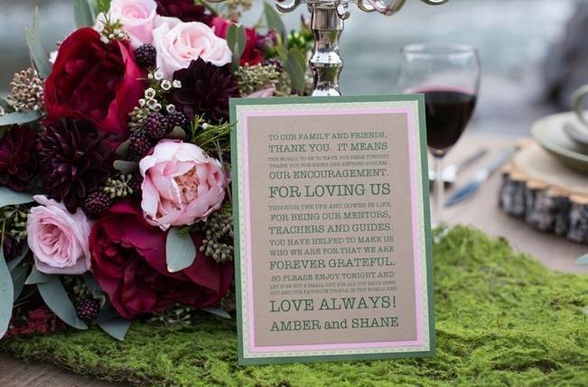 Rustic Merlot and Blush Rocky Mountain Wedding Inspiration 6