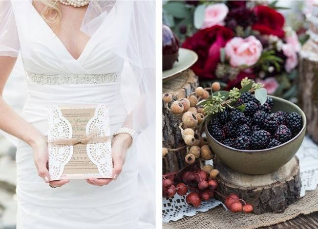 Rustic Merlot and Blush Rocky Mountain Wedding Inspiration 7