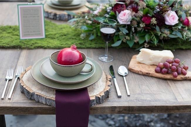 Rustic Merlot and Blush Rocky Mountain Wedding Inspiration 8