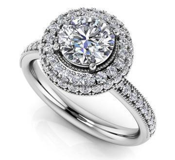 Surrounded by Sparkle Diamond Engagement Ring