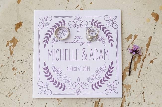 Woodsy Purple New Hampshire Wedding {Erika Follansbee Photography}