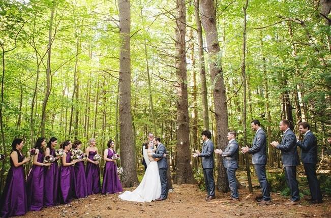 Woodsy Purple New Hampshire Wedding {Erika Follansbee Photography} 11