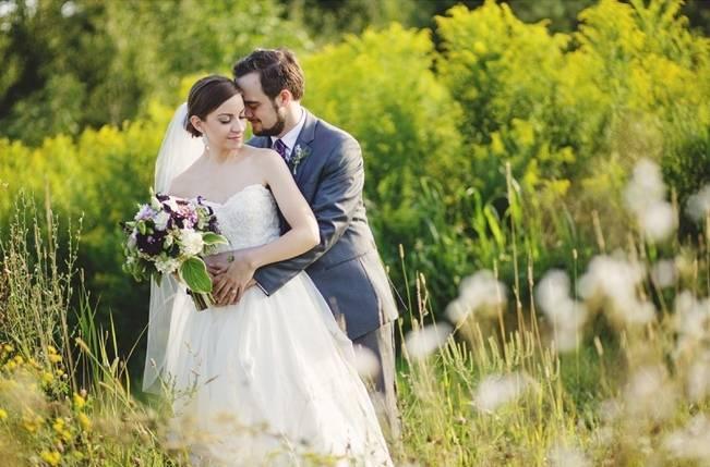 Woodsy Purple New Hampshire Wedding {Erika Follansbee Photography} 13