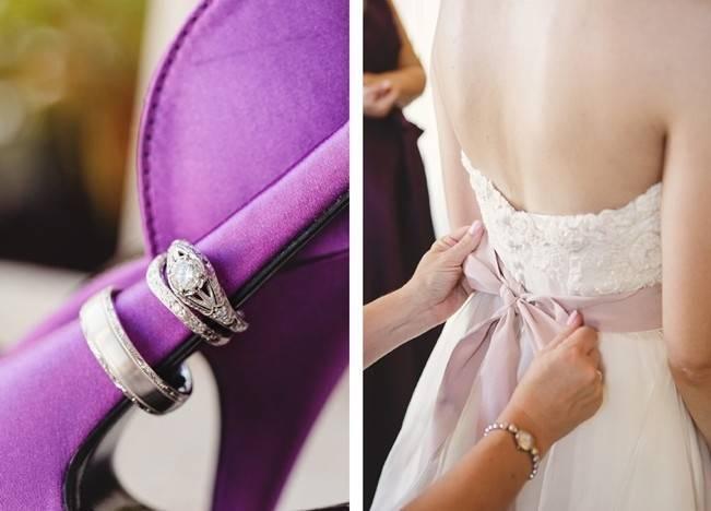 Woodsy Purple New Hampshire Wedding {Erika Follansbee Photography} 2