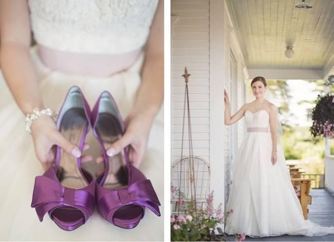 Woodsy Purple New Hampshire Wedding {Erika Follansbee Photography} 4