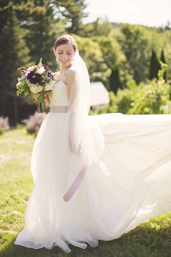 Woodsy Purple New Hampshire Wedding {Erika Follansbee Photography} 6