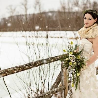 Rustic Luxe Winter Wedding Inspiration {Lis Photography}
