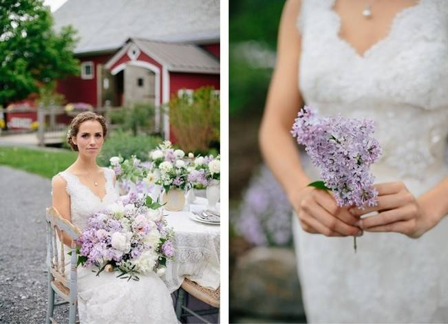 Lilac + Lace Country Chic Wedding Inspiration {The Light + Color} 10