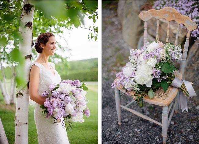 Lilac + Lace Country Chic Wedding Inspiration {The Light + Color} 13