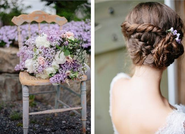 Lilac + Lace Country Chic Wedding Inspiration {The Light + Color} 2