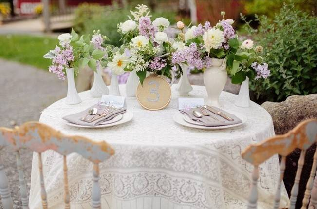 Lilac + Lace Country Chic Wedding Inspiration {The Light + Color} 3