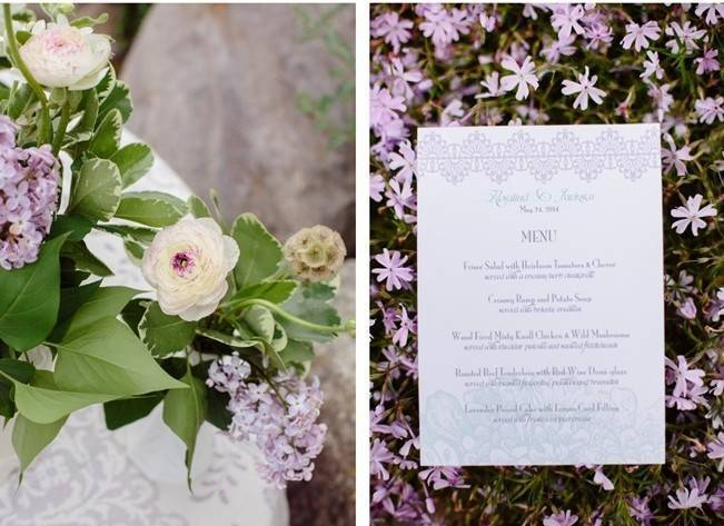 Lilac + Lace Country Chic Wedding Inspiration {The Light + Color} 6