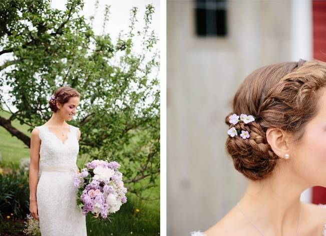 Lilac + Lace Country Chic Wedding Inspiration {The Light + Color} 8