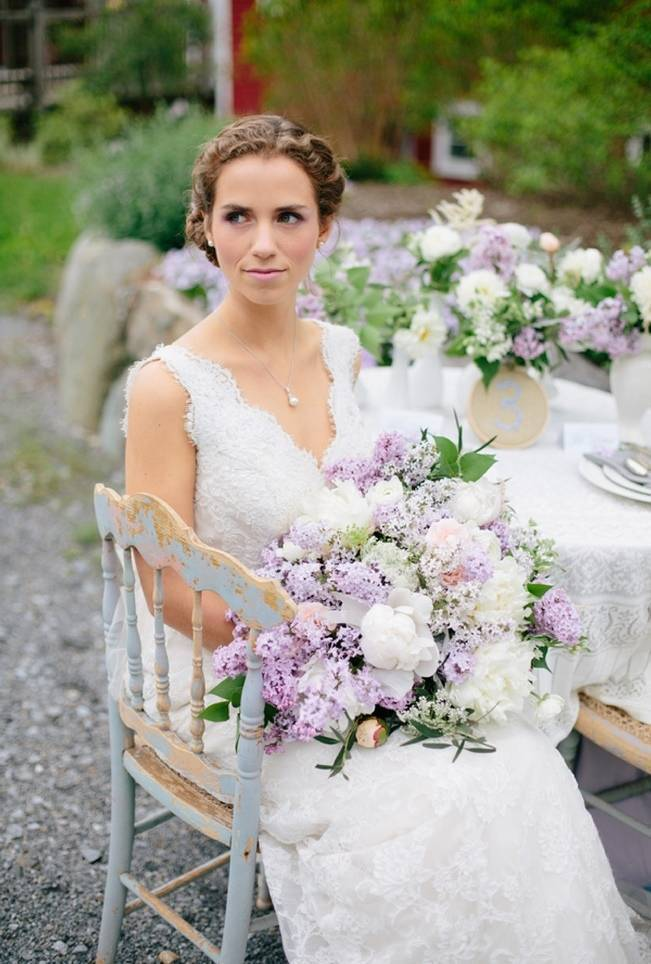 Lilac + Lace Country Chic Wedding Inspiration {The Light + Color} 9