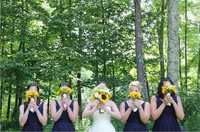 Vermont Rustic Chic Sunflower Wedding {Floor Three Photography} 2