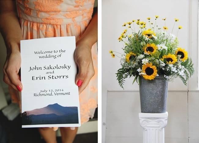 Vermont Rustic Chic Sunflower Wedding {Floor Three Photography} 6