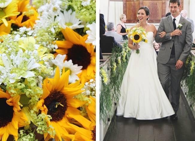 Vermont Rustic Chic Sunflower Wedding {Floor Three Photography} 8