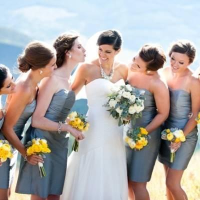 Yellow + Gray Colorado Mountain Wedding {Brinton Studios}