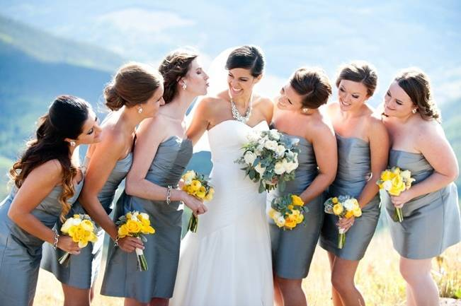 Yellow + Gray Mountain Wedding in Vail, Colorado {Brinton Studios} 1